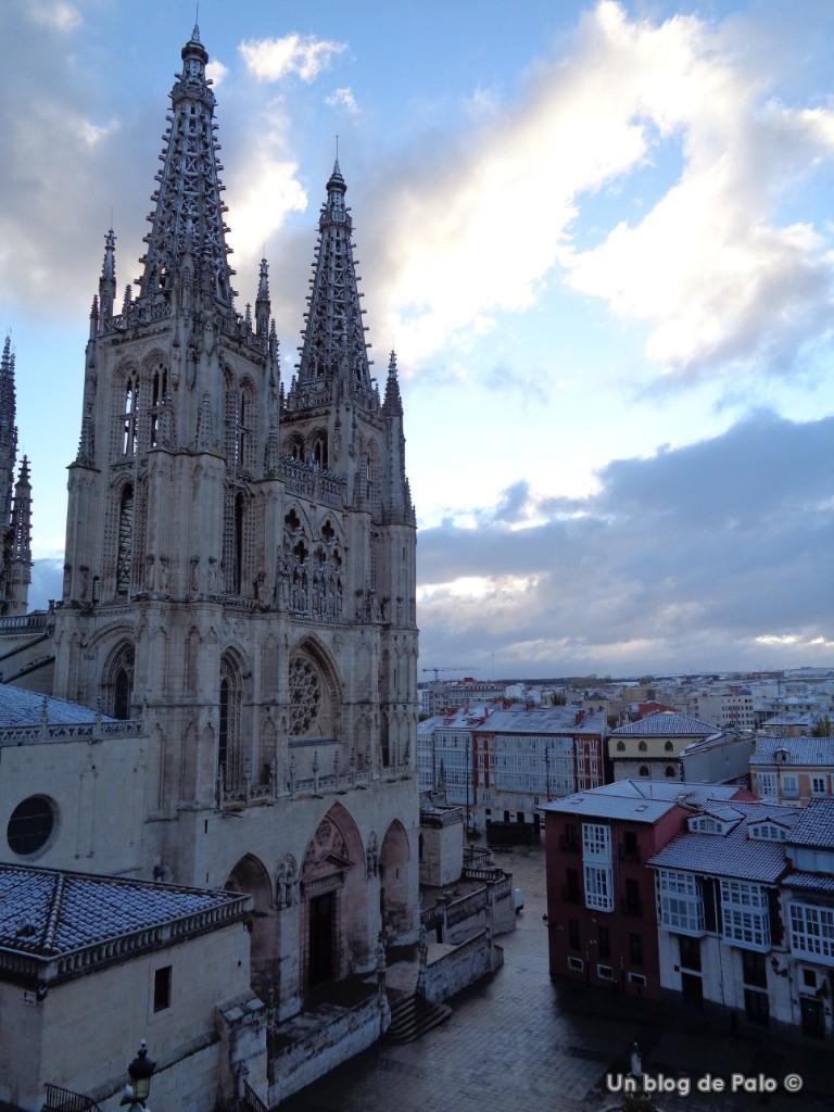 Vistas de la fachada de la Catedral de Burgos