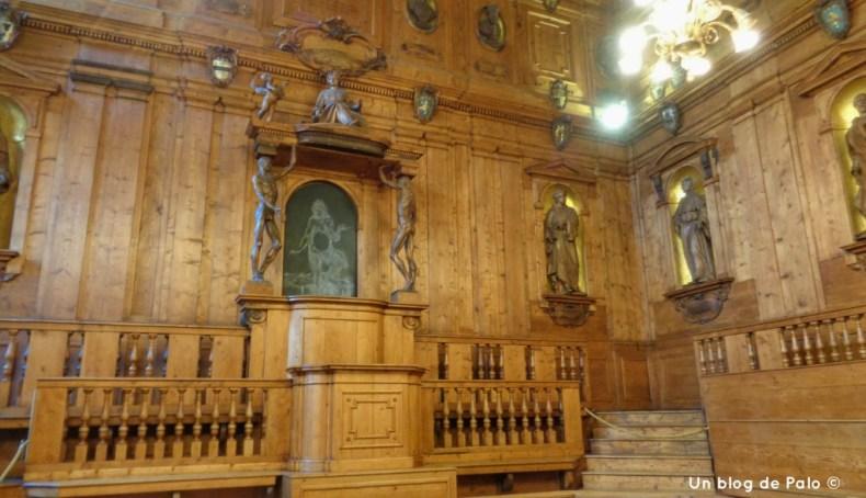 Sala del Teatro Anatómico de Bolonia