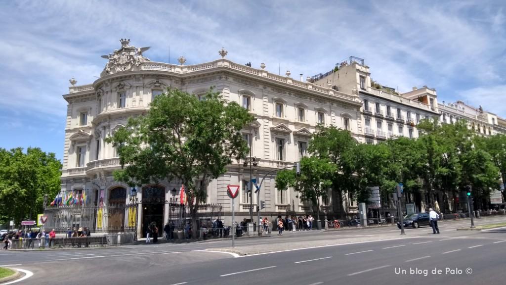 Palacio de Linares o Casa América en Madrid