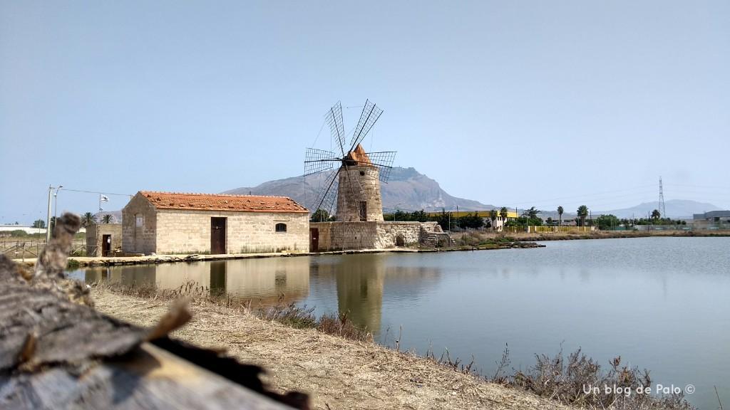 Vistas de las Salinas de Trapani