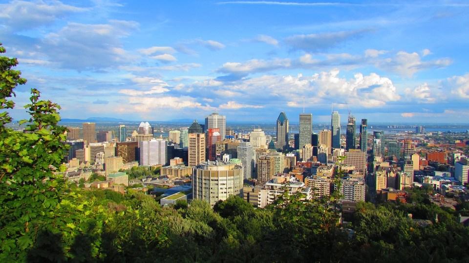 Vistas espectaculares de Montreal