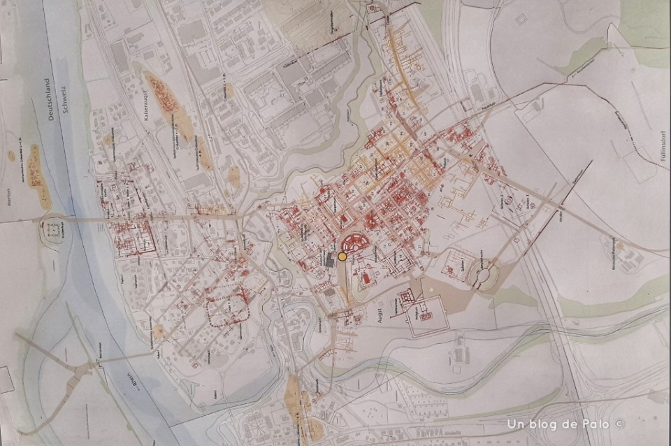 Mapa de los restos y la ciudad
