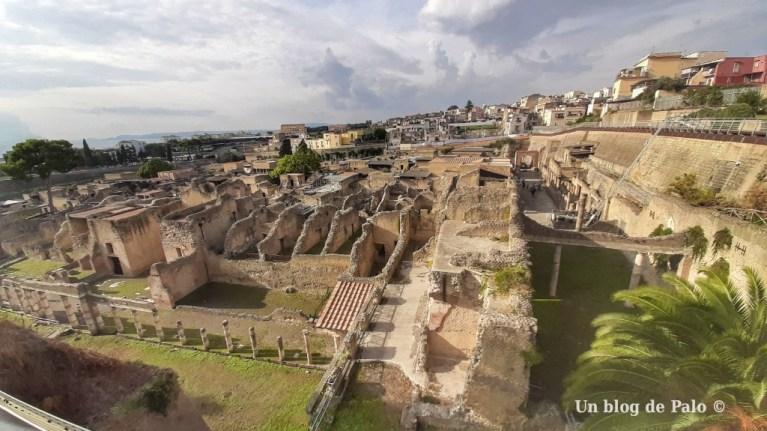 Visitar Herculano vistas desde la entrada