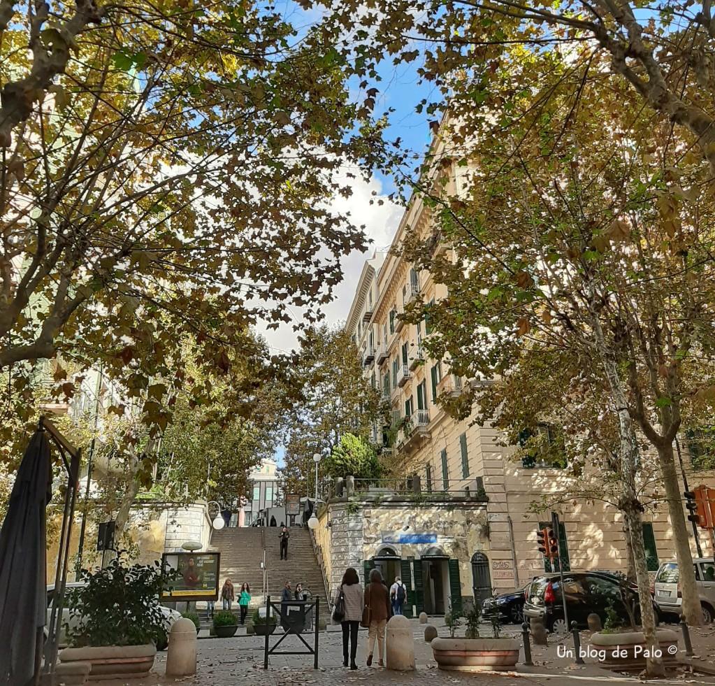 Calles del Vomero en Nápoles