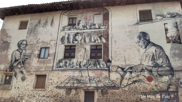 Mural dedicado al oficio del zapatero
