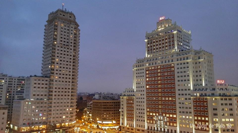 Hotel Riu desde Ginkgo Sky Bar - terrazas en Madrid