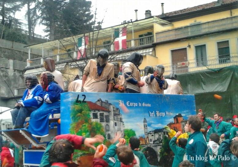 Batalla de naranjas en el Borghetto de Ivrea