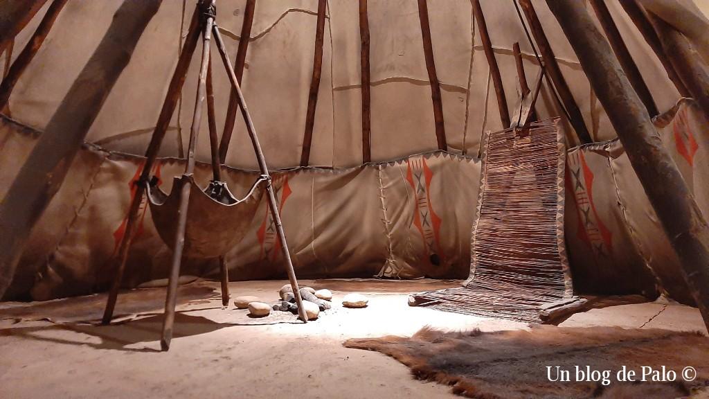 Un tipi, vivienda de algunos indios americanos