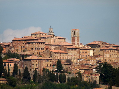 vistas de Montepulciano en la Ruta por la Toscana