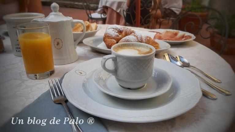 Uno de los mejores momentos del viaje a Toscana: el desayuno