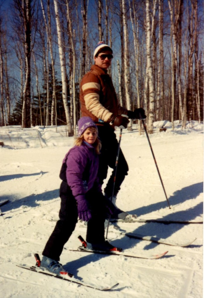 Skiing With Dad