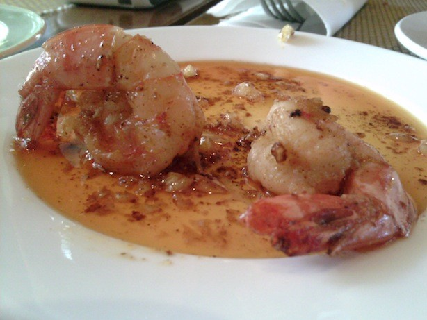 Gambas from Rocky's Cafe in Amorsolo Building, Rockwell Center. Sarap.
