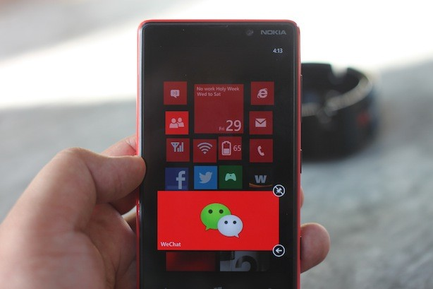 Pressing down on live tiles lets you rearrange and resize them