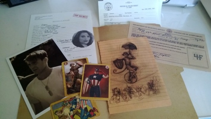 A lot of fun stuff in Roger's Dossier including Agent Coulson's Captain America Trading Cards!