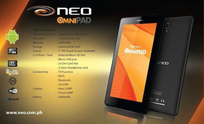 Neo enters the tablet market with the Neo Omnipad