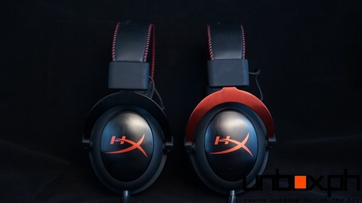 Hyper X Cloud on the left, HyperX Cloud II on the right