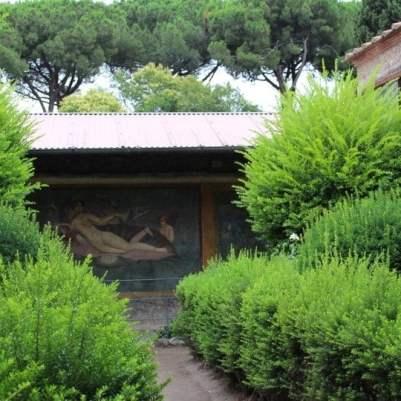 fresque de la maison de Venus dans coquille