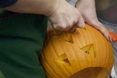 Le visage de Jack dans la citrouille d'halloween