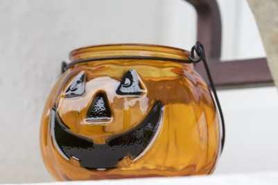 Un photophore citrouille pour halloween citrouille