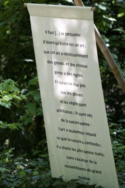Citation dans le parc de la Vallée-aux-Loups, domaine de Chateaubriand.