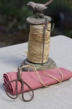 De la ficelle pour des ronds de serviette