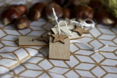 Etiquettes pour réaliser un centre de table avec des bougies pour l'Avent