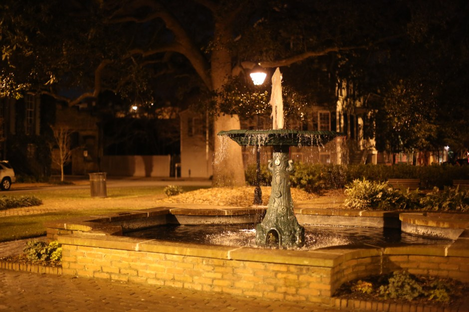 There are a considerable number of fountains in Savannah.