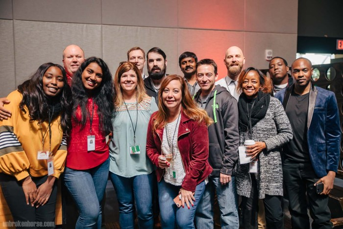 Sunira's co-workers at the Macy's 2018 Holiday Party