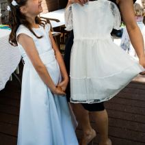 Mother and daughter communion dresses