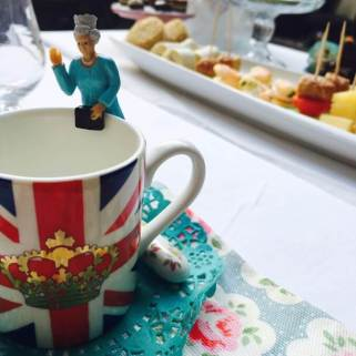 Drink buddies for a Royal afternoon tea
