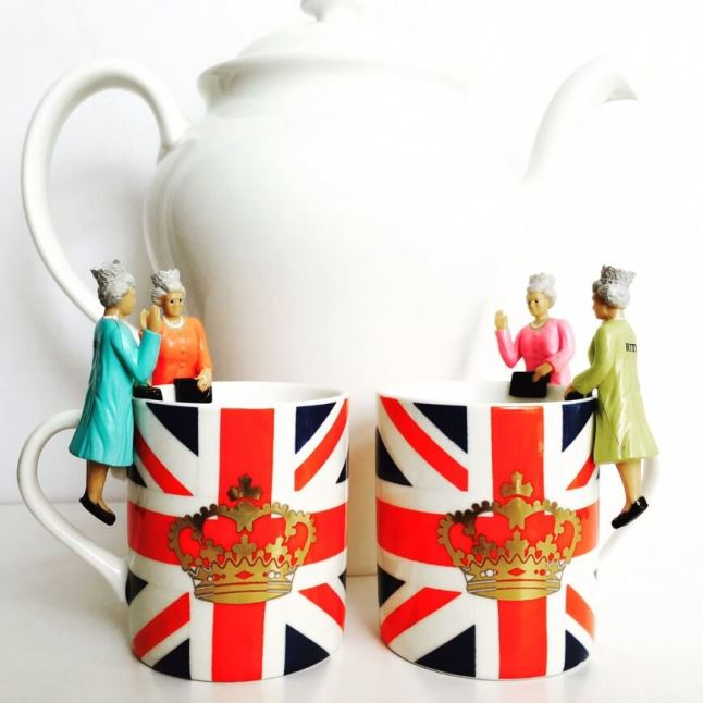 My teapot was in Royal company here with Lizzie, Betty, Bessie and Beth