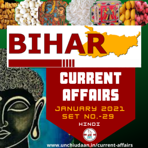 Read more about the article Bihar Current Affairs January 2021 Set No.29
