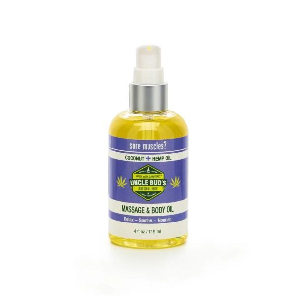Uncle Bud's Hemp Massage & Body Oil