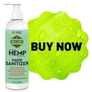 Uncle Bud's Hemp Hand Sanitizer Buy Now