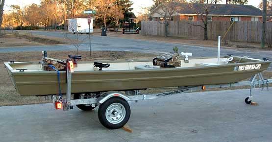 classic Louisiana Jon boat