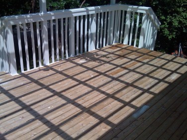 Deck Rails Painted