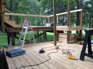 Platform on new deck build