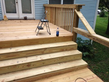 Building Steps for Deck