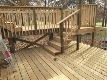 Deck Project Before Stain