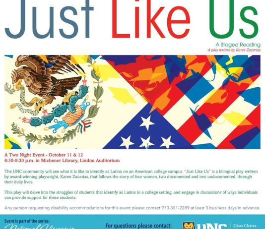 """poster of """"Just Like Us."""" Further information in article."""