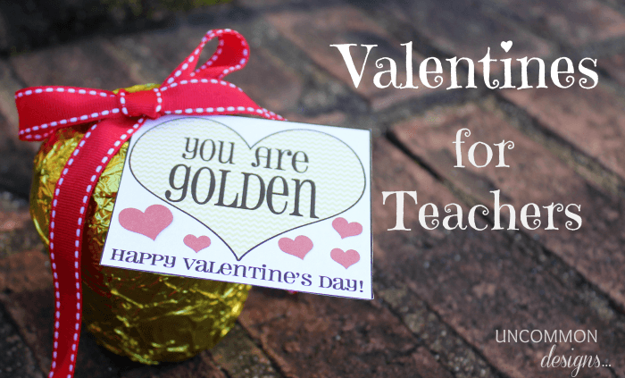 Teacher Valentines A Free Printable Uncommon Designs