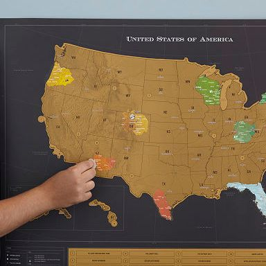 HD Decor Images » USA Scratch Map   Interactive Travel Chart   UncommonGoods USA Scratch Map