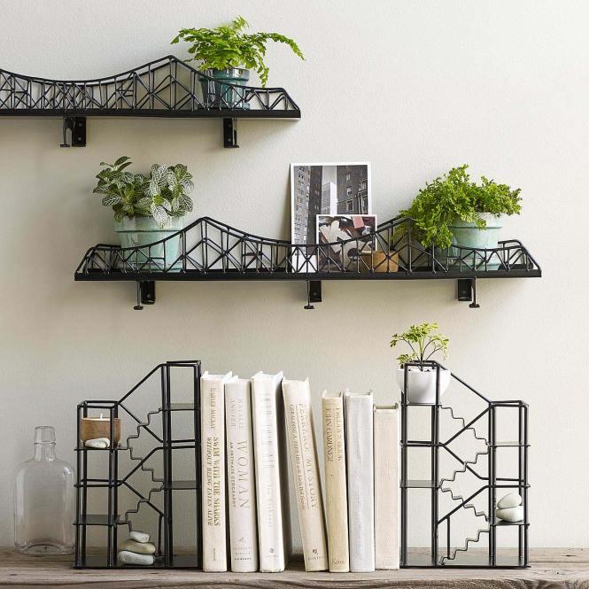 Bcp Cross Wood Wall Shelf Black Finish Home Decor Furniture Com