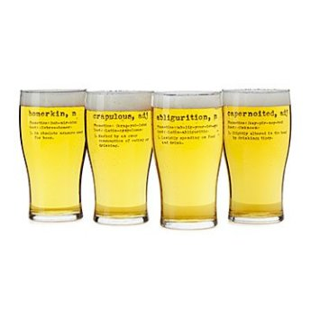uncommon goods wordy beer glasses