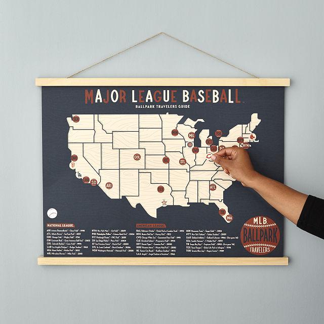 mlb ballpark traveler s map ball