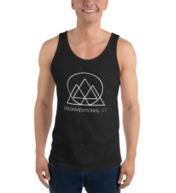 Unisex  Tank Top – Charcoal Triblend