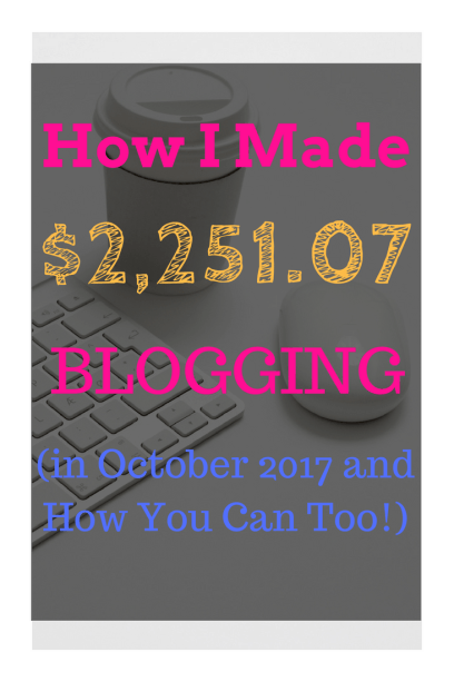 Online Income Report for the month of October. If you want to see EXACTLY how we make money online and make money blogging then this article is a MUST read!