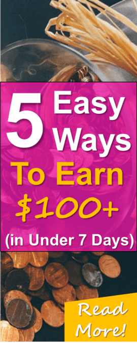 5 easy ways to make extra money fast! Read how to EASILY make $100-$200 or more from the comfort of your own home!