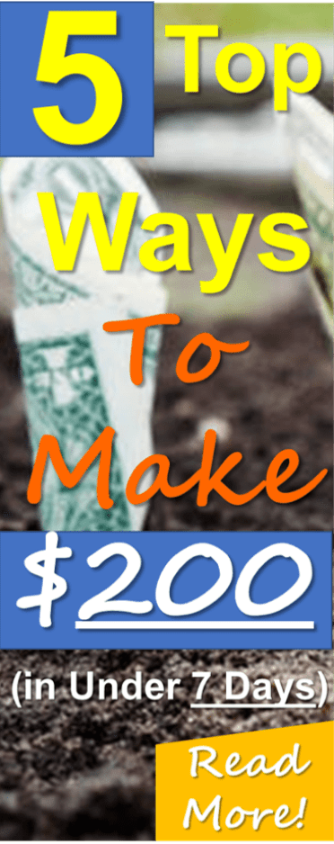 5 easy ways to make extra money fast! Read hot to EASILY make $100-$200 or more from the comfort of your own home! Making money from home is possible and you CAN do it!