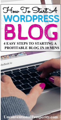 How to start a wordpress blog in just 10 mins! How To Start A Blog and Make Money! You CAN do this and it is easier than you think to make money blogging! Starting a blog is the best side hustle you can do to become an online entrepreneur!